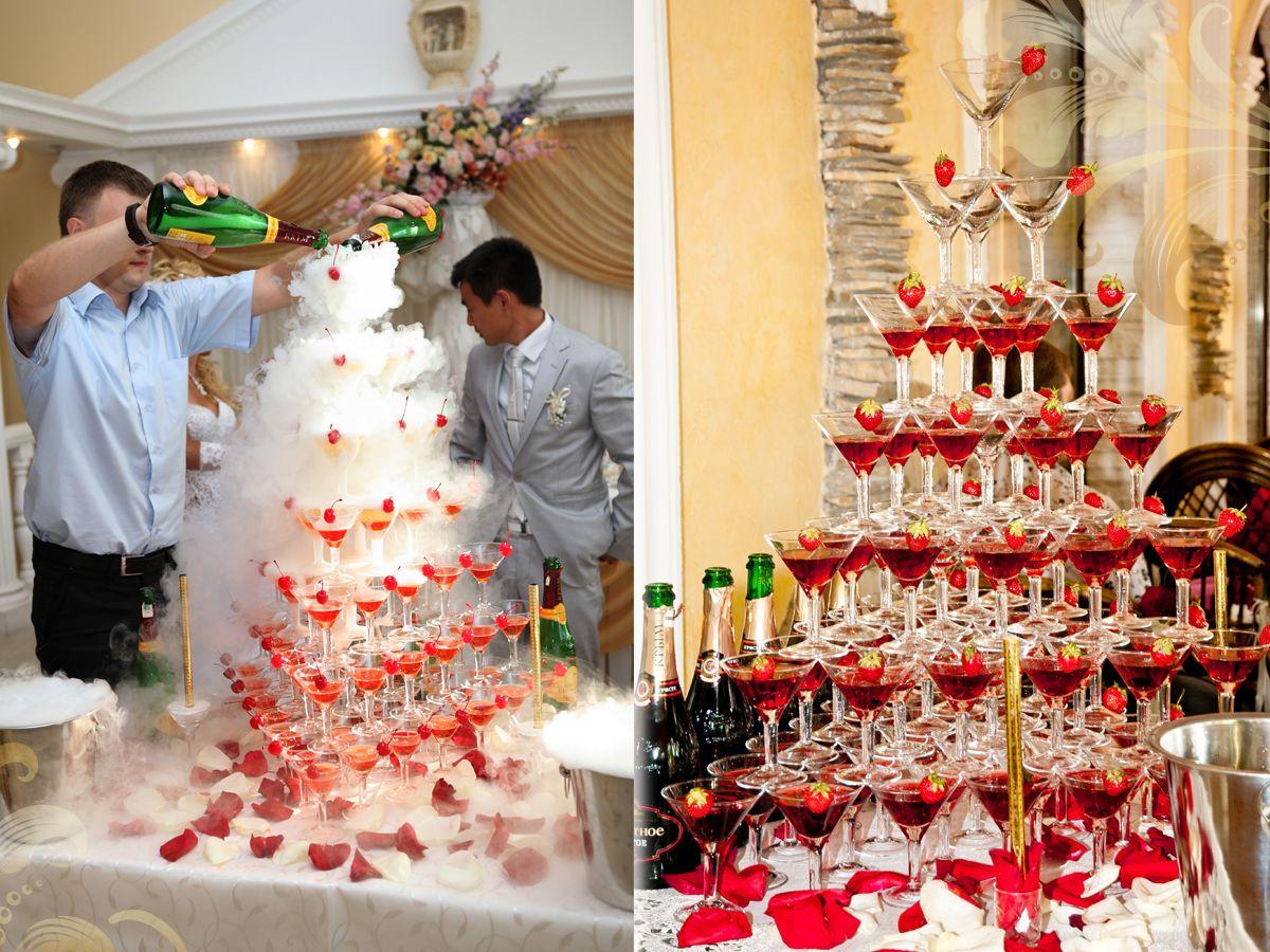 Как сделать пирамиду с шампанским