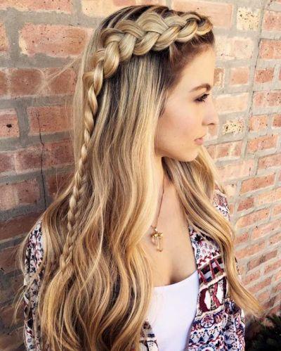 Французская коса набок